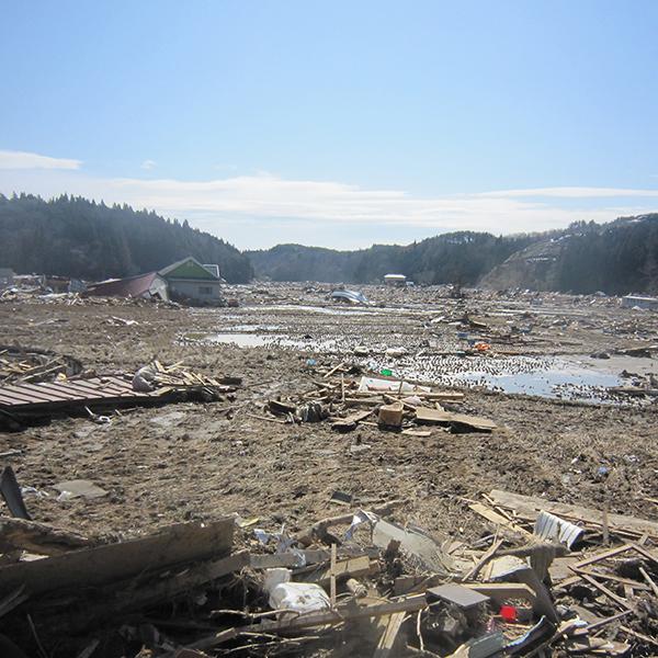 東日本大震災の様子